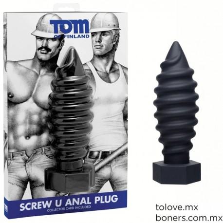 Sexshop Gay Online   Plug Anal Tornillo Tom of Finland   Envíos Discretos