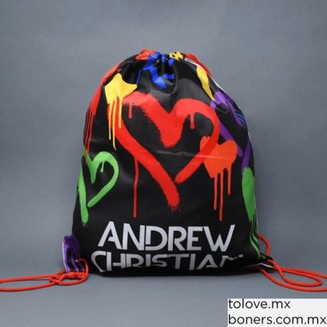Sex Shop Gay en Línea | Venta de Mochila Grafiti Corazón Andrew Christian | Empaque Discret | Envíos CDMX y todo México