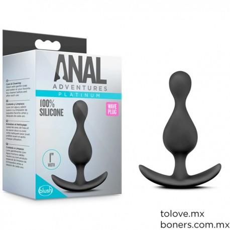 Sex Shop En Línea | Precio de Plug Anal Ondulado de Silicón | Compra segura | Envío discreto CDMX y toda la República Mexicana